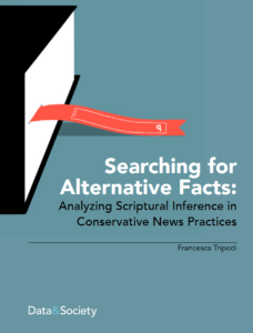 """Cover of the """"Searching for Alternative Facts"""" report"""